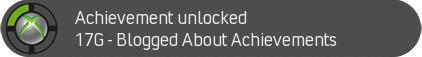 Achievement Unlocked - Blogged About Achievements