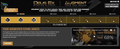 Augment Your Pre-order! Unbalance Your Game!